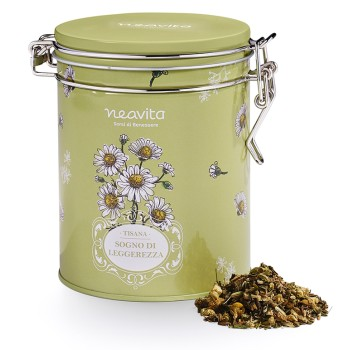 neavita royal tin erbe e tisane camomilla con tisana sogno di leggerezza 90 g
