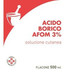 acido borico 3% 500ml afom
