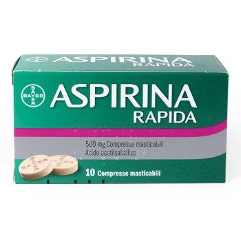 aspirina rapida 10 compresse masticabili 500mg