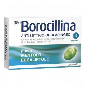 neoborocillina antisettico orofaringeo 16 pastiglie mentolo eucaliptolo