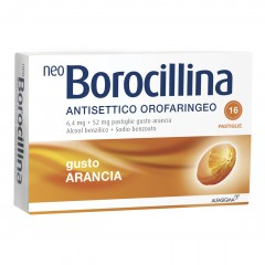 Neoborocillina Antisettico Orofaringeo 16 Pastiglie Arancia