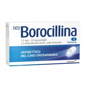 neoborocillina antisettico orofaringeo 16 pastiglie 1,2 + 20 mg