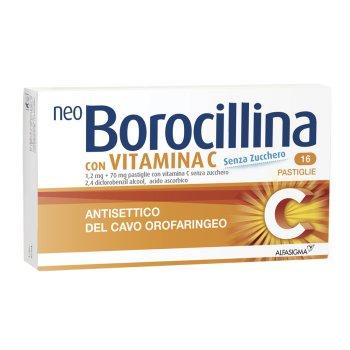 neoborocillina vit c 16 pastiglie senza zucchero