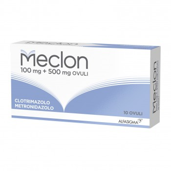 meclon 10 ovuli vaginali 100 + 500 mg