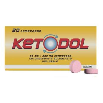 ketodol 20 compresse 25mg+200mg rilascio modificato