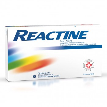 reactine 6 compresse 5mg+120mg rilascio prolungato