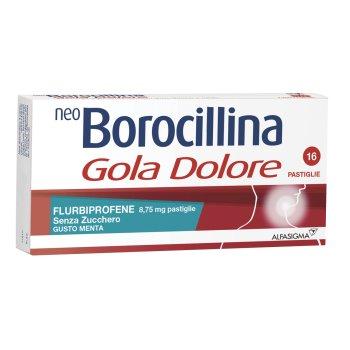 neoborocillina gola dolore menta 16 pastiglie senza zucchero