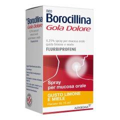 Neoborocillina Gola Dolore Limone & Miele Spray 15 ml