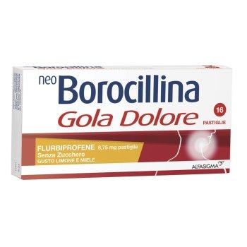 neoborocillina gola dolore 16 pastiglie limone & miele