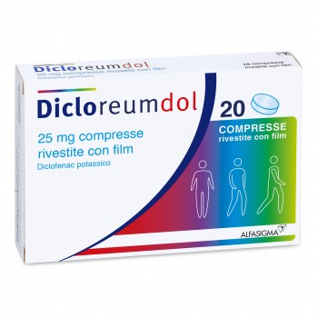 dicloreum dolore 20 compresse rivestite 25 mg