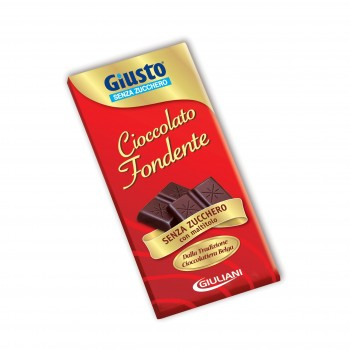 giusto senza zucchero cioccolato fondente 85g