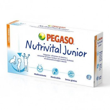 nutrivital junior integratore 30 compresse masticabili pegaso