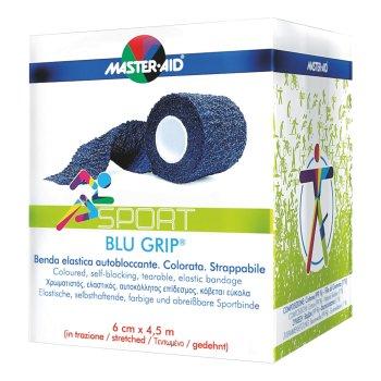 benda elastica master aid blu grip 6x450