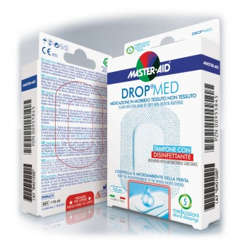 master aid dropmed medicazione 10x12cm 5pz