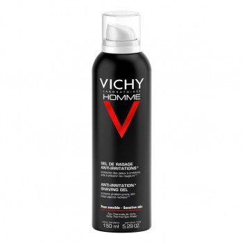 vichy homme sensi shave gel da barba anti-irritazioni 150 ml