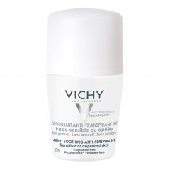 Vichy Deodorante anti-traspirante 48H - Pelle sensibile o depilata Roll-on 50 ml