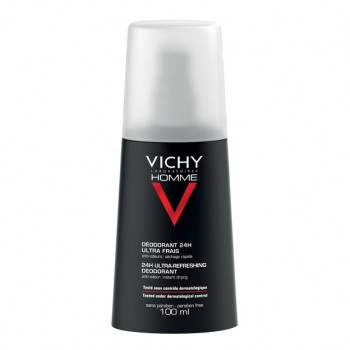 vichy homme deodorante 24h ultra-fresco spray 100 ml