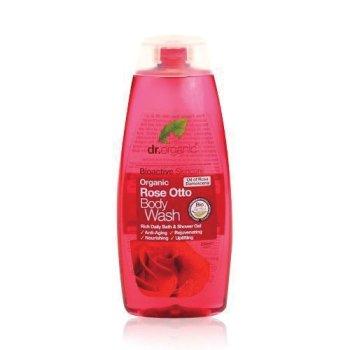 dr organic rose body wash250ml