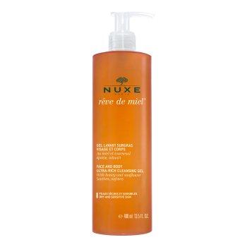 nuxe reve de miel gel lavante viso e corpo pelli secche e sensibili 400 ml