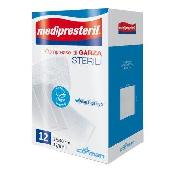 garza medipresteril sterile 36 x 40 12 pezzi