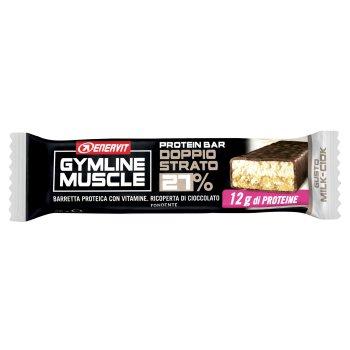 enervit gymline muscle protein bar doppio strato 27% milk-ciok 45g