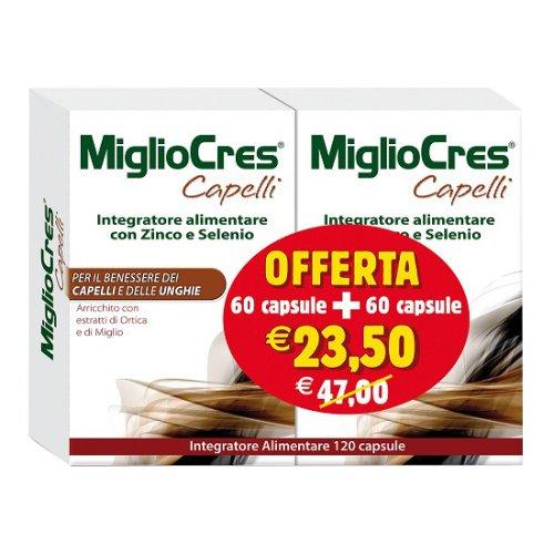 MIGLIOCRES CAPELLI E UNGHIE 60+60 CAPSULE PROMO