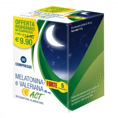 Melatonina+ Forte 5 Complex E Valeriana 45mg Act 60 Compresse