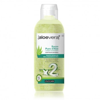 zuccari aloevera2 succo puro aloe doppia concentrazione 1 lt