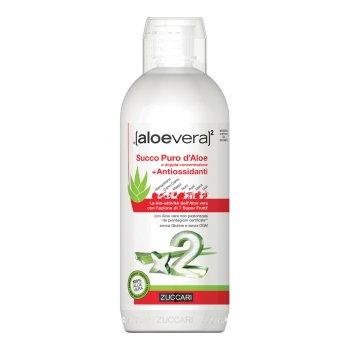 zuccari aloe vera2 succo puro aloe + antiossidanti 1 lt