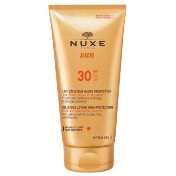 nuxe sun latte solare viso e corpo anti-età alta protezione 150ml