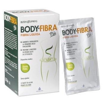 body spring body fibra liquida piu' gusto pera 12 buste 60ml