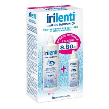 irilenti soluzione unica acido ialuronico duo pack 360ml + 100ml