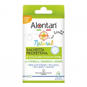 ALONTAN NATURAL SALVIETTA ANTI-ZANZARE 12 BUSTINE