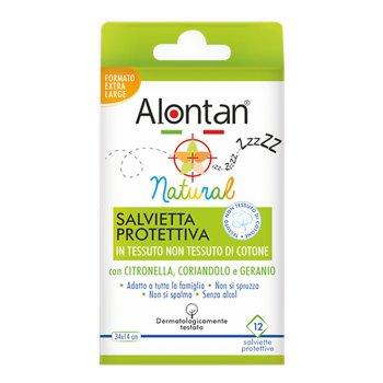alontan natural salvietta anti-zanzare 12 bustine