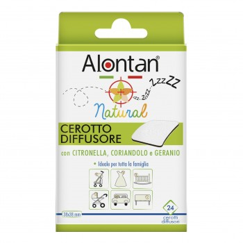 alontan natural cerotto anti zanzara 21 cerotti