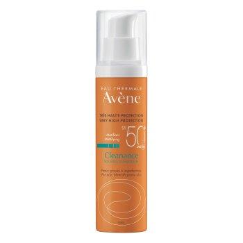 avene solari cleanance spf 50+ protezione solare molto alta pelle acneica 50 ml