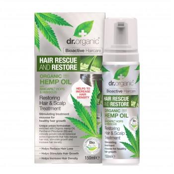 dr organic hemp hair mousse
