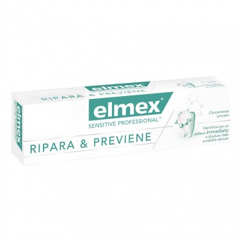 elmex dentifricio sensitive professional ripara & previene 75ml