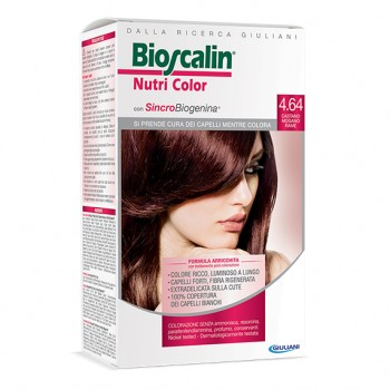bioscalin nutricolor colorazione permanente 4.64 castano mogano