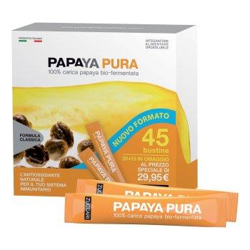 zuccari papaya pura 100% carica papaya bio-fermentata 45 stick pack