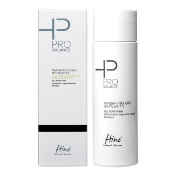 hino natural skincare pro balance washing gel detergente pelli impure 200ml