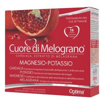 cuore di melograno con magnesio potassio 14 bustine