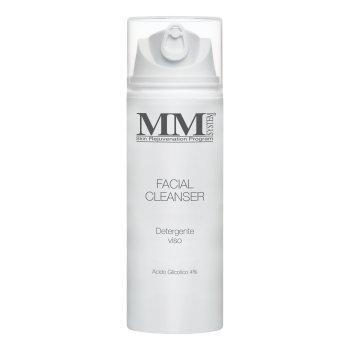 mm system facial cleanser - detergente viso acido glicolico 4% - 150 ml