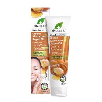 dr organic argan face wash