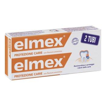 elmex protezione carie dentifricio confezione doppia 2 x 75ml