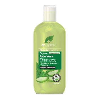 dr organic aloe shampoo 265g