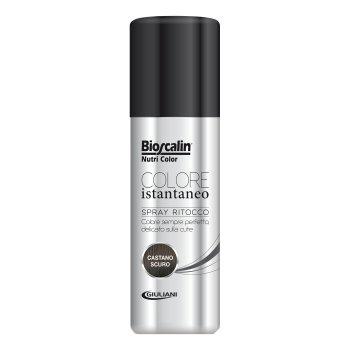 bioscalin nutricolor colorazione permanente spray castano scuro 75 ml