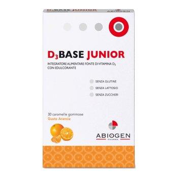 d3base junior 30 caramelle gommose vitamina d3 arancia