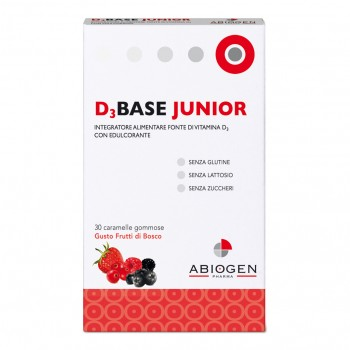 d3base junior 30 caramelle gommose vitamina d3 frutti di bosco