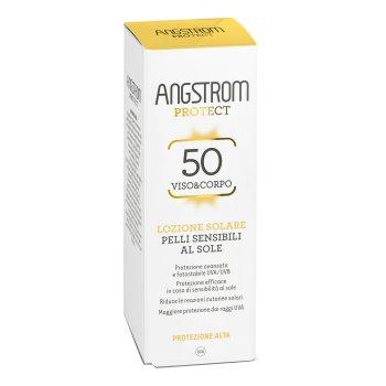angstrom protect spf50+ lozione solare pelli sensibili viso e corpo protezione molto alta 100 ml